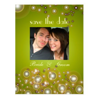 Salvar a data, wedding cartão da foto
