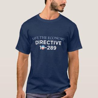 Salvar a economia - camisa escura de 10-289