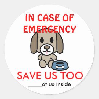 Salvar a Emergência-Doação Home do cão Adesivo Redondo