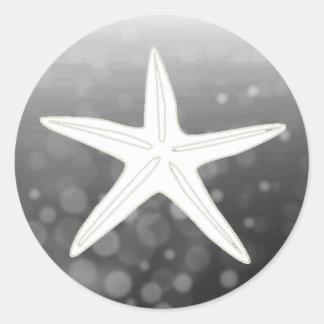 Salvar a etiqueta do casamento da estrela do mar