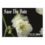 Salvar a flor da respiração dos bebês da data convites personalizado