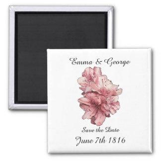 Salvar a lembrança da flor do rosa da data persona imãs
