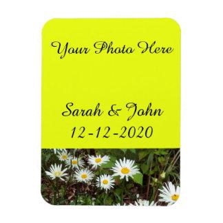 Salvar a margarida do ímã da foto do casamento da foto com ímã retangular