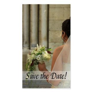 Salvar a noiva & o buquê da data cartão de visita