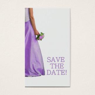 Salvar a noiva & o buquê da data cartão de visitas