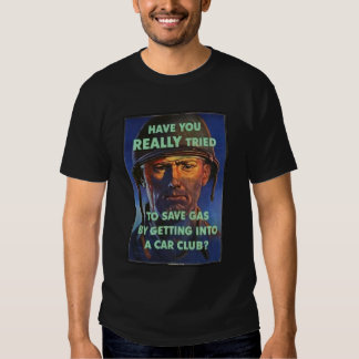 Salvar a propaganda do gás t-shirts