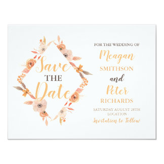 Salvar a queda do outono do cartão de casamento da