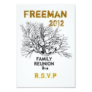 Salvar a reunião de família da data convite 8.89 x 12.7cm