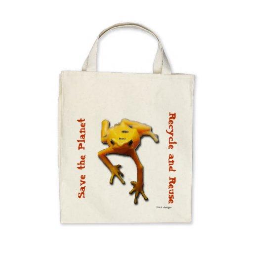 Salvar a sacola do planeta bolsa para compra