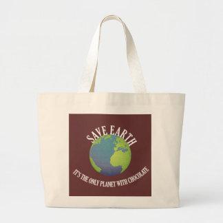 salvar a terra que é o único planeta com chocolate bolsa para compra