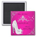 Salvar a tiara cor-de-rosa dos calçados dos saltos imãs