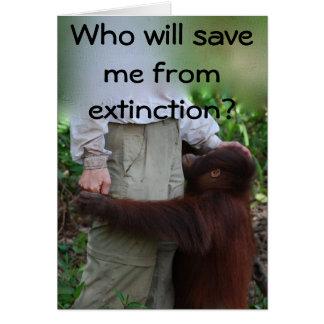 Salvar animais do cartão da extinção