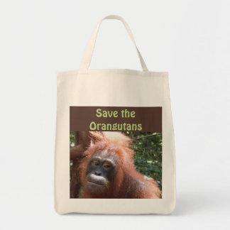 Salvar animais selvagens pstos em perigo bolsa tote