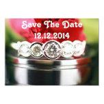 Salvar as alianças de casamento da data convites personalizado