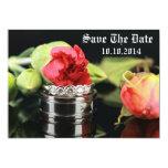 Salvar as alianças de casamento da data convite
