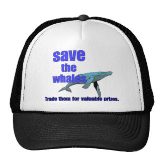 Salvar as baleias boné