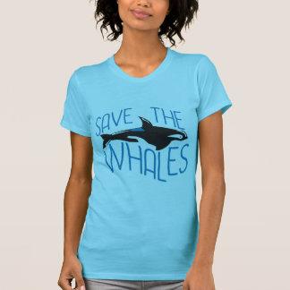 Salvar as baleias tshirts