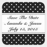 Salvar as etiquetas do casamento da data adesivo em forma quadrada