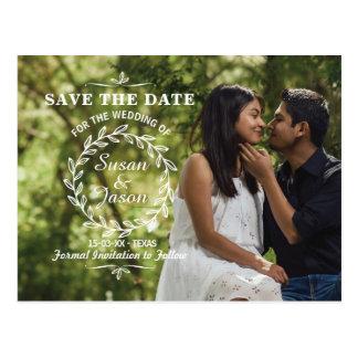 Salvar as folhas do cartão de casamento da foto do