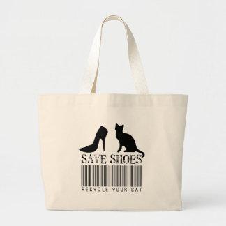 Salvar calçados recicl seu gato sacola tote jumbo