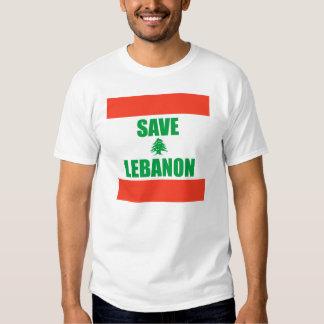 Salvar Líbano Camiseta