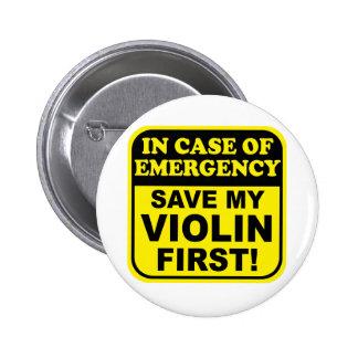 Salvar meu violino bóton redondo 5.08cm