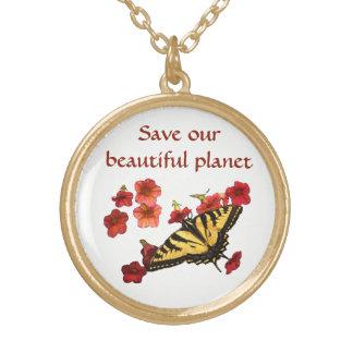 Salvar nossa colar das flores de borboleta do