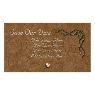 Salvar nossa data cartão de visita