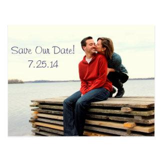 Salvar nossa data! cartão postal