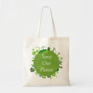 Salvar nossa sacola do planeta bolsa tote