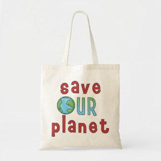 Salvar nosso planeta Bag* *Accent Sacola Tote Budget