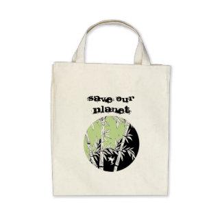Salvar nosso planeta bolsas de lona