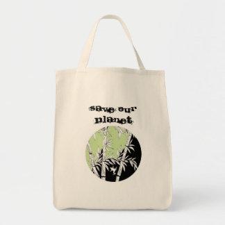 Salvar nosso planeta sacola tote de mercado