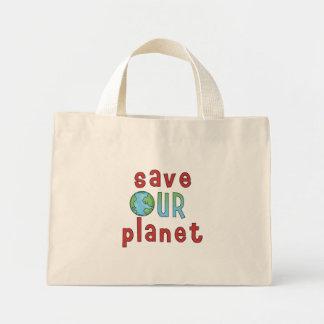 Salvar nosso planeta sacola tote mini