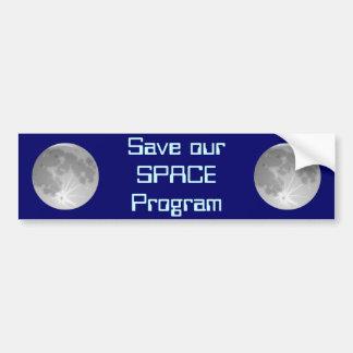 Salvar nosso programa especial adesivo