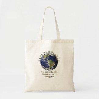 Salvar nosso saco do planeta bolsa de lona