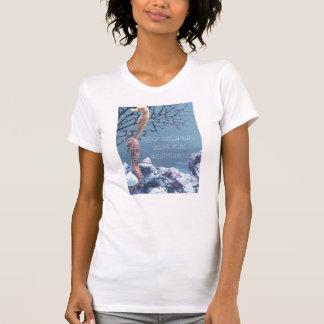 Salvar nosso T dos cavalos marinhos T-shirts