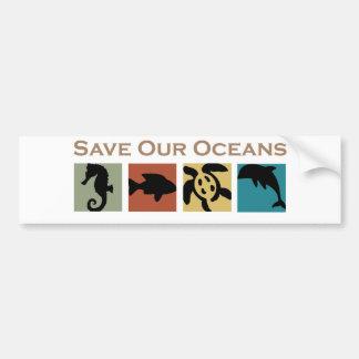 Salvar nossos oceanos adesivo