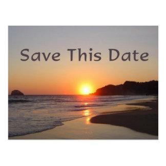 Salvar o ajuste de Sun da data no cartão da praia