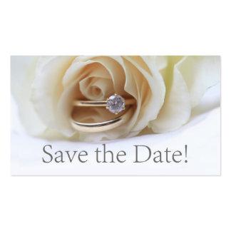 Salvar o anel de noivado da data e aumentou cartão de visita
