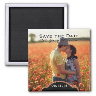 Salvar o anúncio da foto do casamento da data imã