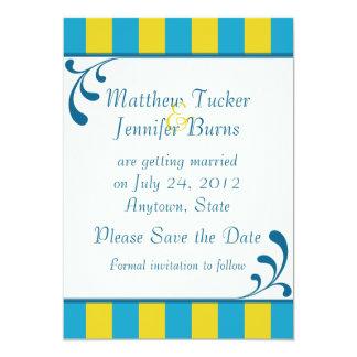 Salvar o anúncio do casamento ou do noivado da convite 12.7 x 17.78cm
