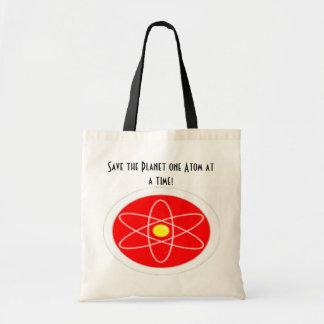 Salvar o átomo do planeta um em um momento! sacola tote budget