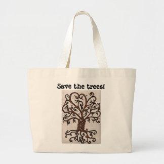 Salvar o bolsa das árvores com a árvore de vida