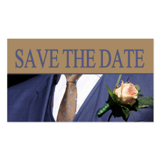 Salvar o boutonniere do noivo da data cartão de visita