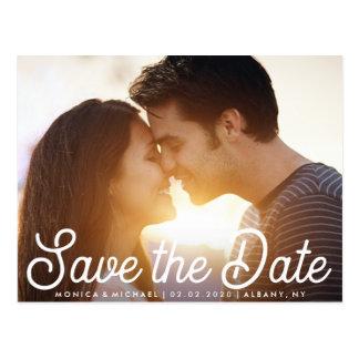 Salvar o cartão à moda da foto do noivado da data