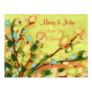 Salvar o cartão amarelo floral do salgueiro da