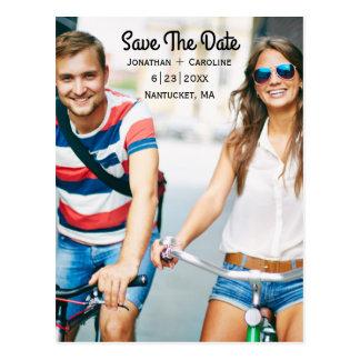 Salvar o cartão com fotos | da data na moda, cartão postal