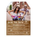 Salvar o cartão com fotos do Tag da bagagem do Convite 12.7 X 17.78cm