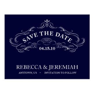 Salvar o cartão da data com quadro caligráfico